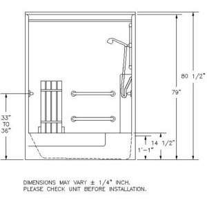Ada Shower Cad Block Submited Images