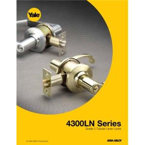 4300LN Series Light/Medium Duty Grade 2 Key-In-Lever Locksets*-4300LN Series Grade 2 Tubular Lever Locksets