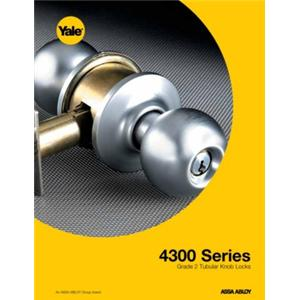 4300 Series Light/Medium Duty Key-In-Knob Locksets-4300 Series Grade 2 Tubular Knob Locksets