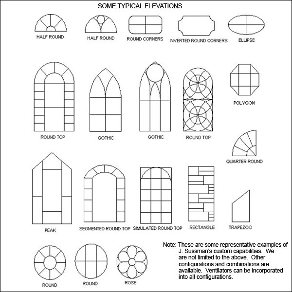 Double Glazed Custom Church Windows (300/400/500/600/700 Series)