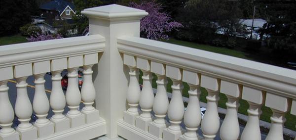 Architectural urethane polyurethane balustrades for Polyurethane columns