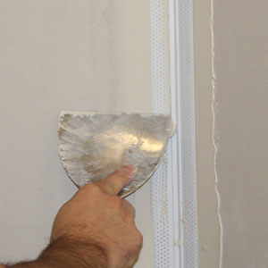 install plastic drywall corner bead