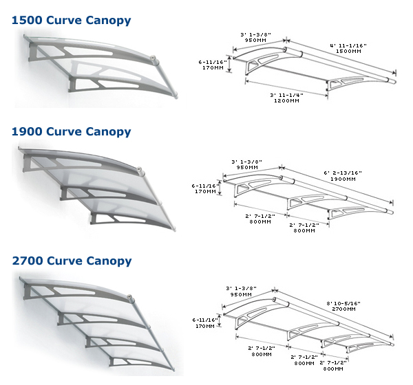 The LightLine® Arch Canopy covers your doorway with an elegant modern archway. The kits come in two sizes 1480mm (58-in) with 2 stainless steel support ...  sc 1 st  Sweets Construction & 241784.jpg
