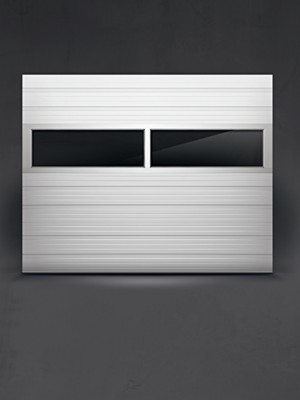 Ribbed Steel Commercial Overhead Sectional Doors C H I