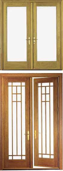 Architect series out swing hinged patio doors pella for Single swing patio door