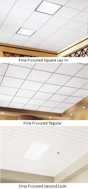 Fissured ceiling tile