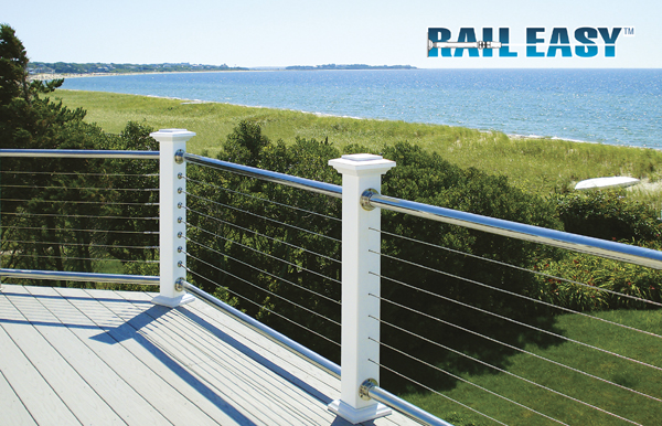 Raileasy™ nautilus cable railing with stainless rails