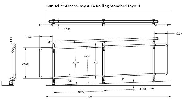 SunRail AccessEasy ADA Handicap Accessibility Railings For Ramps And Stair