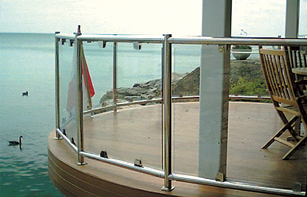 Sunrail Glass Glass Railing With Stainless Steel