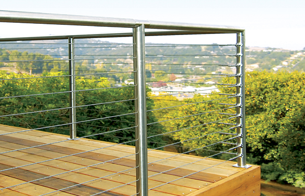 Sunrail™ nautilus stainless steel railing with cable