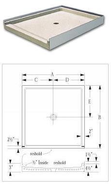 Model 400 Barrier Free Terrazzo Shower Receptor