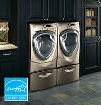 ge profile front load washer and dryer with technology