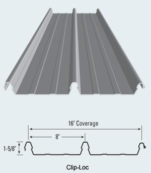 Clip Loc Structural Standing Seam Metal Roof Panel Metal