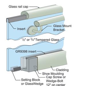 Handrail And Railing Caps For Glass Railing