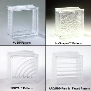 Pittsburgh Corning Glass Block products are offered with our standard edge  coating. Black and Brown edge coatings are available