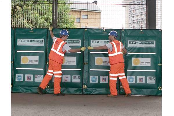 Echo barrier reusable indoor outdoor noise barrier - Exterior noise barrier materials ...