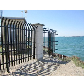Stalwart IS® Anti-Ram Vehicle Barrier with High Security Fence-Ameristar Fence Products, Inc.