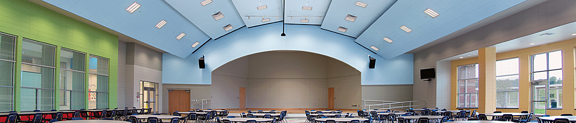 Abner Creek Elementary School, MetalWorks Vector Ceiling Panels - Armstrong World Industries