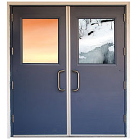 Energy Efficient Steel Stiffened Door - Trio-E-Security Metal Products