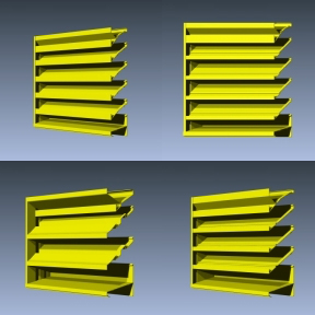 Fixed Extruded Aluminum Drainable Louvers-Industrial Louvers, Inc.