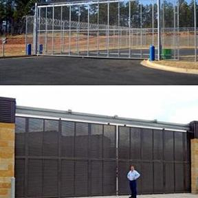 I-Trac Overhead I-Beam Sliding Gate - Jamieson Manufacturing Co.