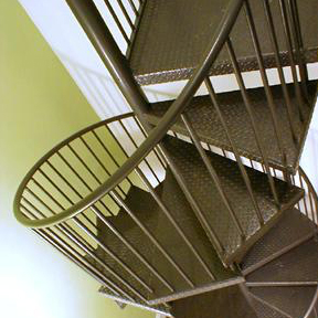 Metal Fully Assembled Spiral Stairs-Stairways, Inc.