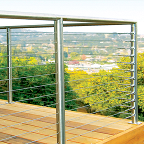 SunRail™ Nautilus - Stainless Steel Railing with Cable Infill Option-Atlantis Rail Systems