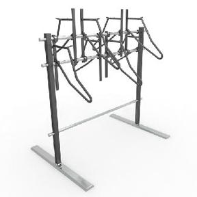 The Hawthorne Floor Mount Rack (Double)