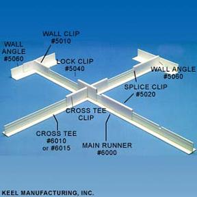KEELGRID Fiberglass & Plastic Suspended Ceiling System-Keel Mfg., Inc.