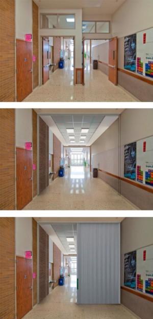 FireGuard™ Cross-Corridor/Compressed Stack - Horizontal Sliding Fire Door