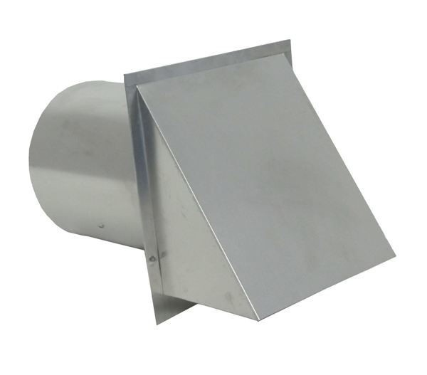 Hooded Wall Vent with Screen and Damper - Galvanized - SDWVG