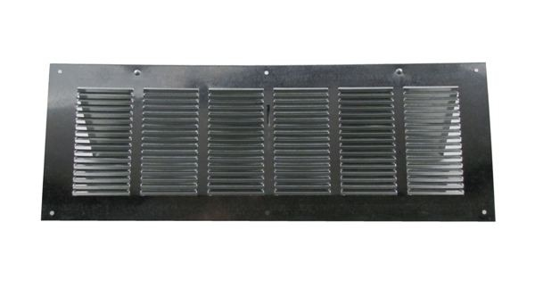 Louvered Foundation Vent with Damper - Galvanized - VD