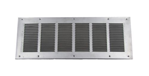 Louvered Foundation Vent with Screen and Damper - Aluminum - VDSA
