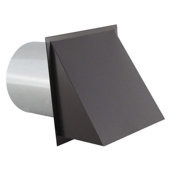 Hooded Wall Vent with Screen - Painted - SWVP