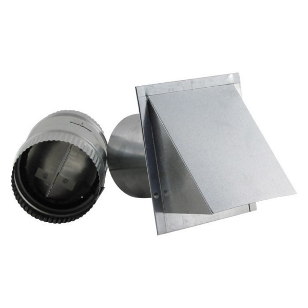 Aluminum Wall Vent - Reversible Backdraft Damper - RDWVA