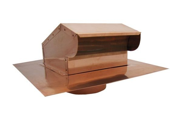 Bath Fan / Kitchen Exhaust - Roof Vent with Extension - Copper - BKXCU