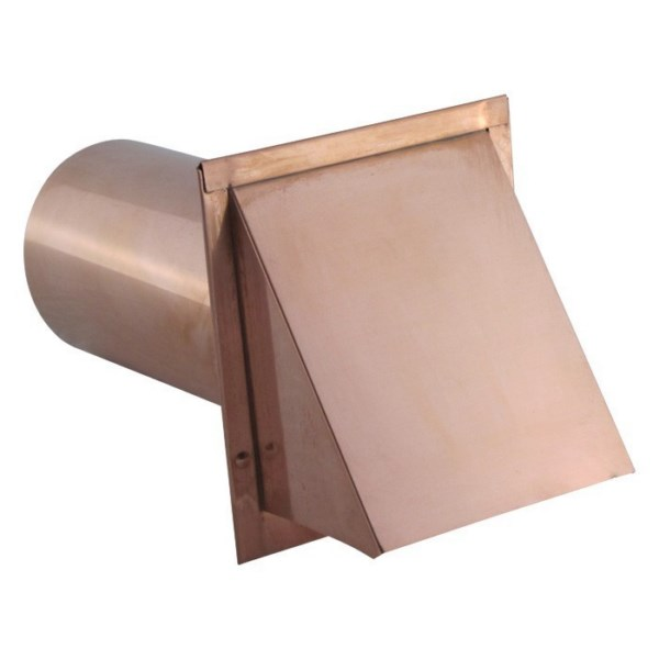 Hooded Wall Vent with Screen and Damper - Copper - SDWVCU