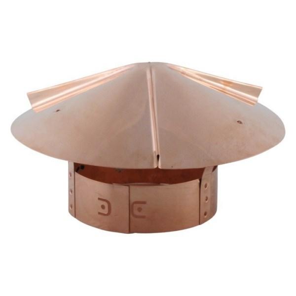 Cone Top Chimney Cap with Screen - Copper - CTSCU