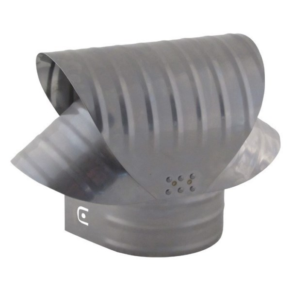 Round Base Chimney Vacuum Cap - Stainless Steel - VCSS