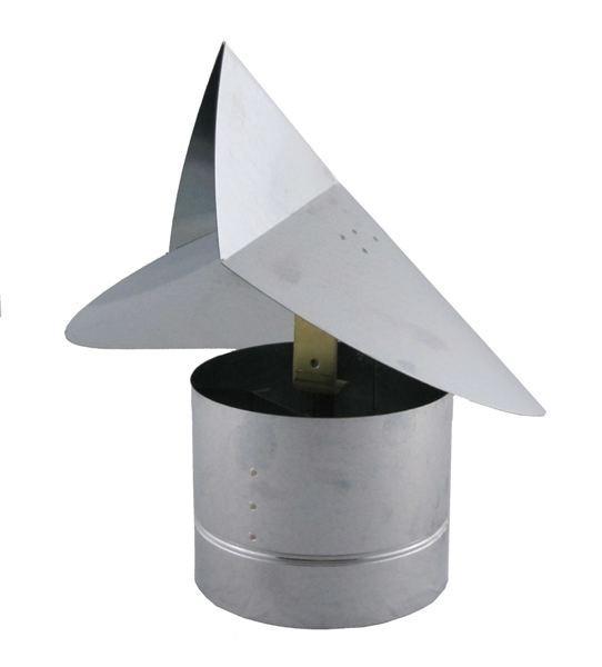 Wind Directional Chimney Cap - Galvanized - WDC