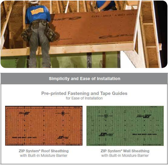 Zip System 174 Roof Amp Wall Sheathing Huber Engineered Woods