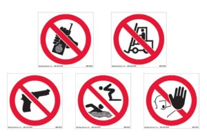 International Safety Prohibition Pictograms
