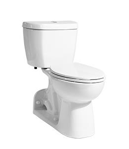 A - Stealth® Rear Outlet - 0.8 GPF Toilet Elongated
