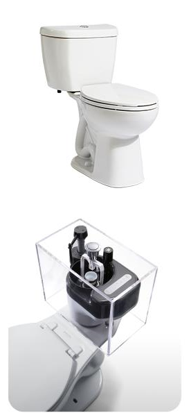 A - 0.8 GPF Single Flush Stealth® Toilet - Elongated