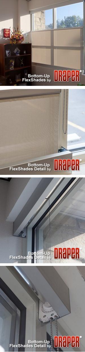 Bottom-Up Flex Shade - Manual / Motorized Operation