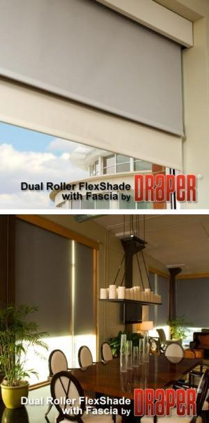 Dual Roller FlexShade with Fascia
