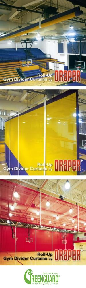 Roll-Up Gym Dividers