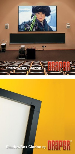 ShadowBox Clarion Fixed Projection Screen