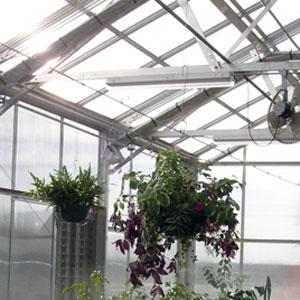 Greenhouse Hanging Basket Rails