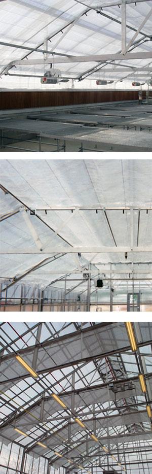Greenhouse Sun Control Energy Curtain